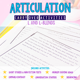 Articulation Carryover Activities for /L/ & /L-blends/