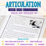 Articulation Carryover Activities for Voiced & Voiceless /