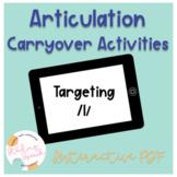 Articulation Carryover Activities for /l/: No Print Speech