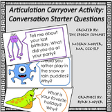 Articulation Carryover Activity: Monster Conversation Starter Questions