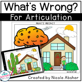 """Articulation Carryover Activity: """"What's Wrong?"""" for Speech Therapy"""