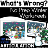 """Articulation Carryover Activity: """"What's Wrong?"""" for Speech Therapy (Winter)"""