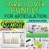 Articulation Carryover Bundle for Speech Therapy