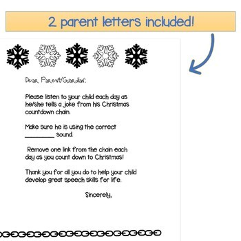 R,L,SH,CH,SH,J&S Artic Carryover Countdown to Christmas-Jokes & Riddles Homework