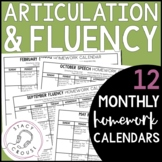 Articulation Carryover Fluency Homework Middle School High School Speech Therapy