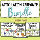 Articulation Carryover Activities BUNDLE