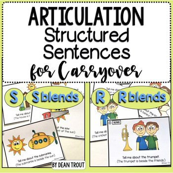 Articulation Activity for Carryover for S R and Blends