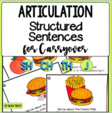 Articulation Activity for Carryover SH CH TH and J