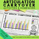 Articulation Carryover Activities & Homework Sheets