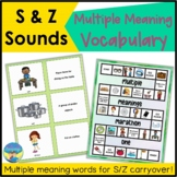 Articulation Carryover and Language Activities | S Z | Mul