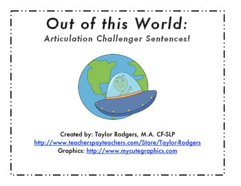Articulation Challenger Sentences - For later sounds