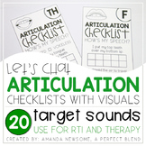Articulation Checklists