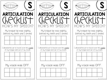 Articulation Checklists
