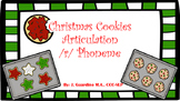 Articulation Christmas Cookies R words, /r/ phonemes