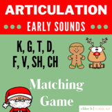 Articulation Christmas Matching Game - Speech Therapy Dist
