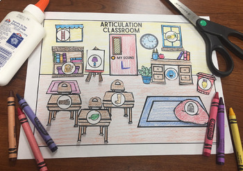 Articulation Classroom! Speech Therapy Craft Activity