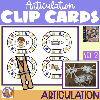 Articulation Clip Cards Set 2 Blends: speech and language therapy