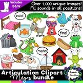 Articulation Clipart Mega Bundle -Over 1,100 images - Phonics clipart bundle