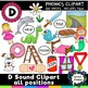 Articulation Clipart Mega Bundle -Over 1,100 images - Phonics clipart bundle