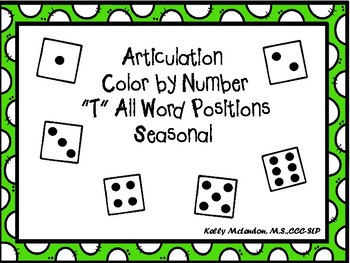 """Articulation  Color by Number  """"T""""  Seasonal"""