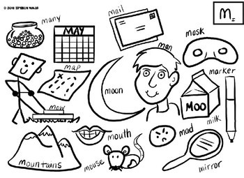 Articulation Color-by-Sound Coloring Pages P,B,M