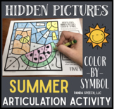 Summer Articulation Color by Symbol Hidden Images: A Speech Therapy Activity