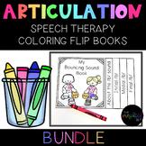 Articulation Coloring Flip Books w/ Speech Sound Cues MONEY SAVING BUNDLE