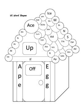 Articulation Coloring Page- Gingerbread word shapes