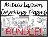 Articulation Coloring Pages Bundle!