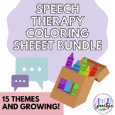 Mega Speech Therapy Coloring Sheet Bundle   No Prep   Ever Growing