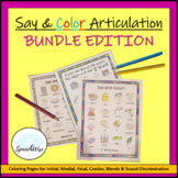 Articulation Coloring Sheets GROWING Bundle for Speech The