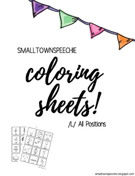 Articulation Practice Coloring Sheets: /l/ All Positions