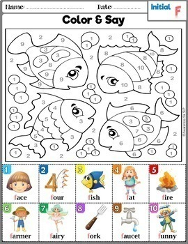 Articulation Activity: F and V Coloring Book