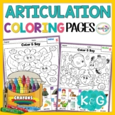 K and G Articulation Worksheets | Articulation Coloring Sh