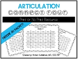 Articulation Connect Four Freebie