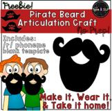 Articulation Craft: Pirate Beard!