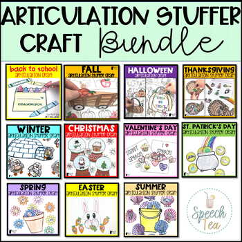 Articulation Stuffer Crafts for the ENTIRE YEAR