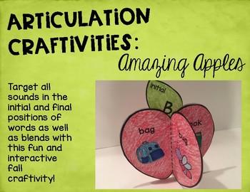Articulation Craftivities: Amazing Apples