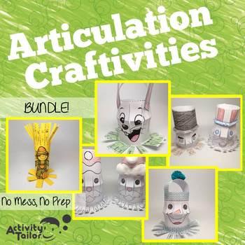 Articulation Craftivities: No Prep, No Mess