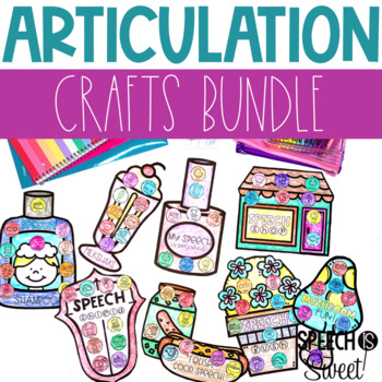 Articulation Crafts {A Speech Therapy Bundle}