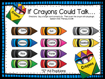 The Day The Crayons Quit Speech & Language Companion