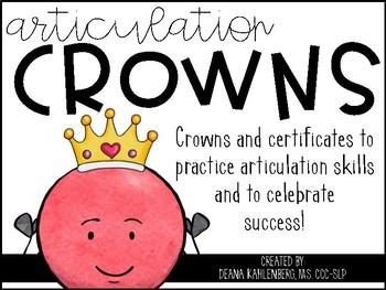 Articulation Crowns: Celebrate Success!