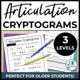 Articulation Cryptogram Puzzles: NO-PREP