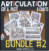 Articulation Cut & Paste BUNDLE #2 ! Speech Therapy Craft