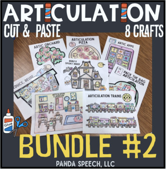 Articulation Cut & Paste BUNDLE #2 ! Speech Therapy Craft Activities