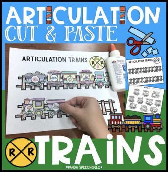 Articulation Cut & Paste Trains! Speech Therapy Craft Activity