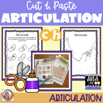 Articulation: Cut & Paste /ch/ for speech and language therapy