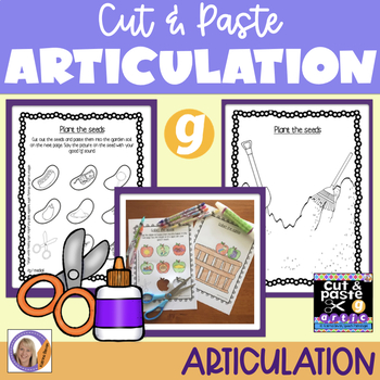 Articulation: Cut & Paste /g/ for speech and language therapy