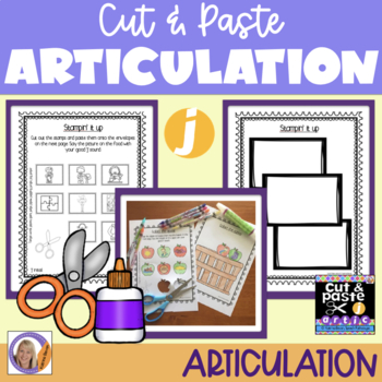 Articulation: Cut & Paste 'j' /dz/ for speech and language therapy