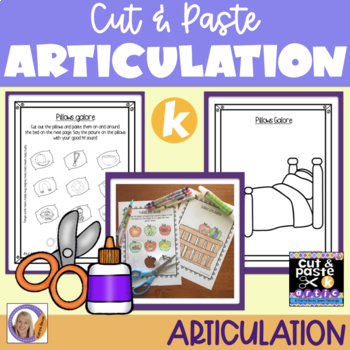Articulation: Cut & Paste /k/ for speech and language therapy